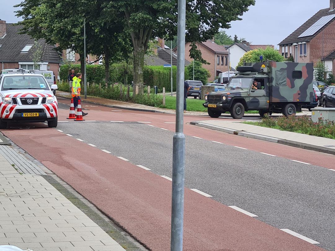 Het leger rukt om te helpen in het Limburgse Bunde